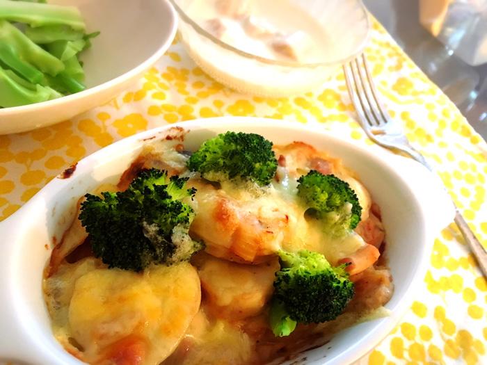 【レシピ】むくみ対策に♪ヘルシー里芋グラタン