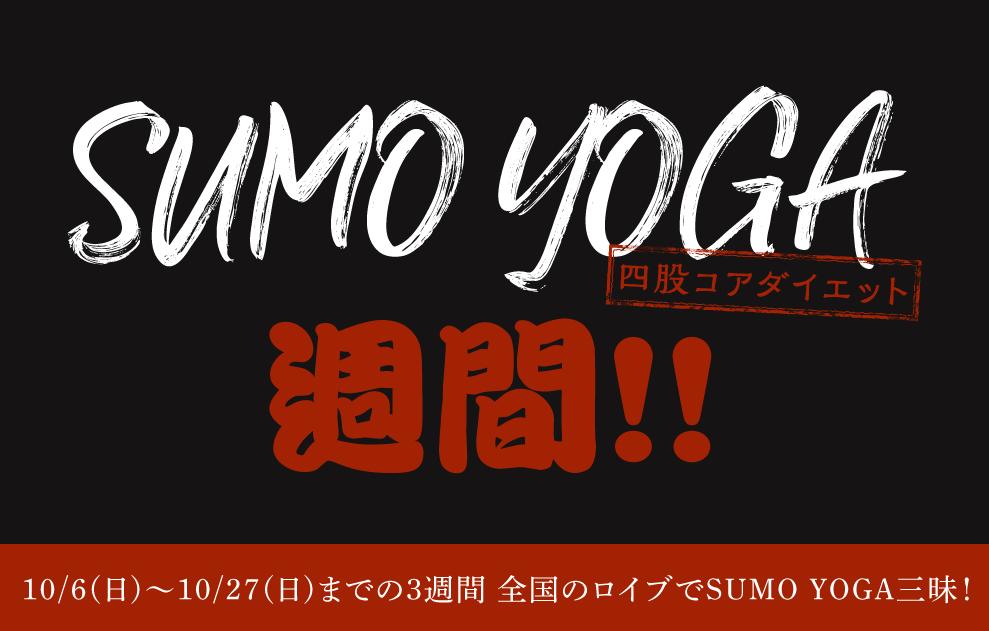 SUMO YOGA週間!!10/6から3週間 ロイブがSUMO YOGA三昧に!