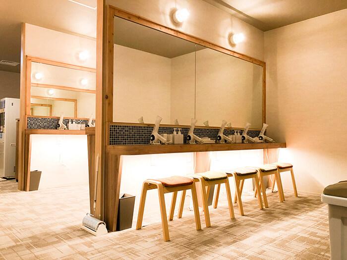 松本店のパウダールーム