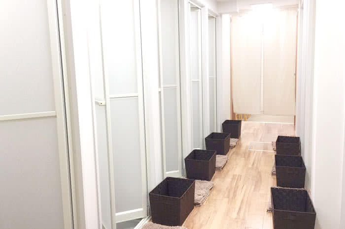 名古屋店のシャワールーム