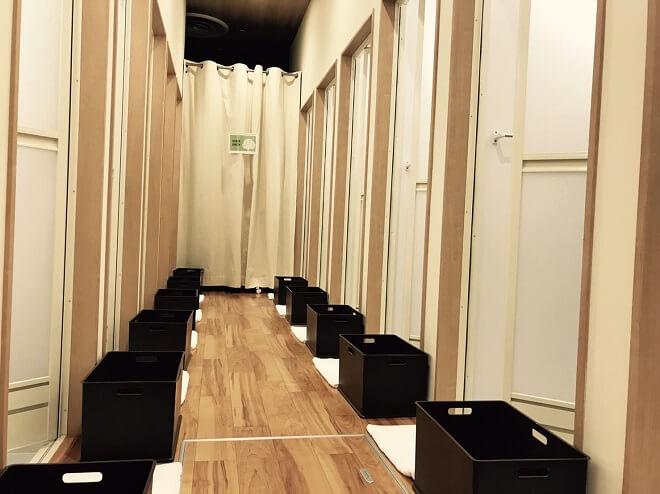 旭川店のシャワールーム