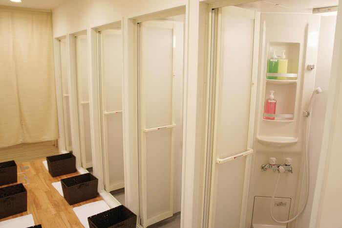 札幌店のシャワールーム