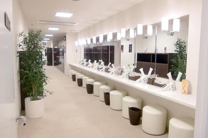 仙台店のパウダールーム