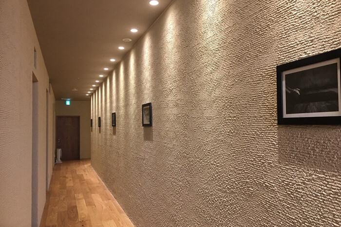 ロイブ プラス銀座店の廊下スペース