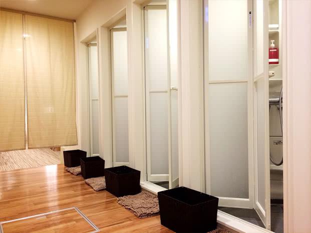 函館店のシャワールーム