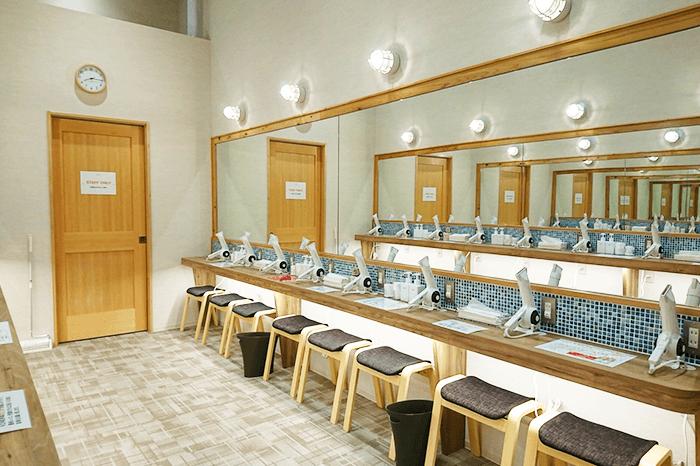 丸亀店のパウダールーム