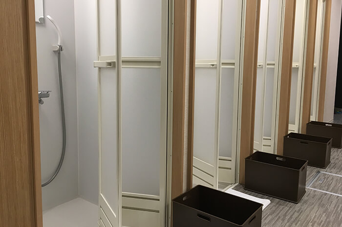長久手店のシャワールーム